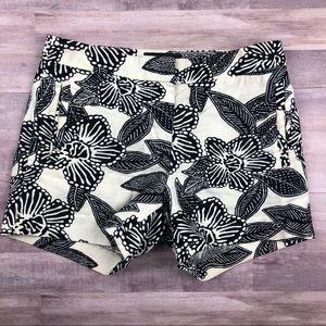 J Crew Black & Cream Floral Shorts Summer2015